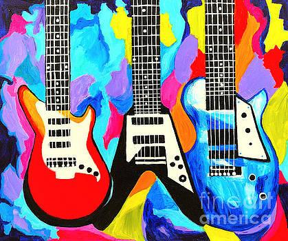 Fancy Guitars by Art by Danielle