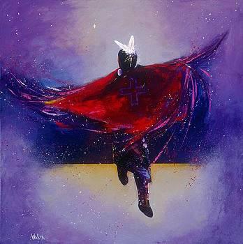 Fancy Shawl Dancer by Donald Brewer