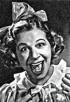 John Springfield - Fanny Brice, Vintage Actress by JS