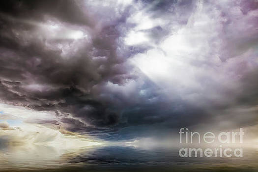 Fantasy cloudscape with UFO activity by Simon Bratt Photography LRPS