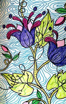 Fantasy Floral #4 by Anne Robinson