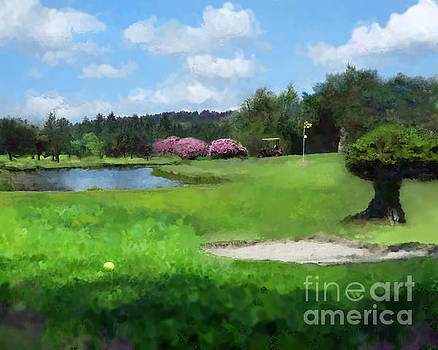 Fantasy Golf Hole  by Tamra Heathershaw-Hart