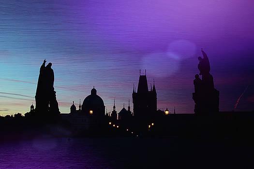 Fantasy Sunrise St. Charles Bridge Prague  by Eric Bjerke Sr
