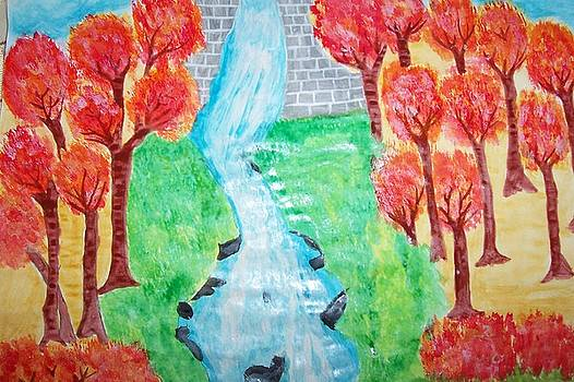 Fantasy water fall by Rashmi Kemnaik