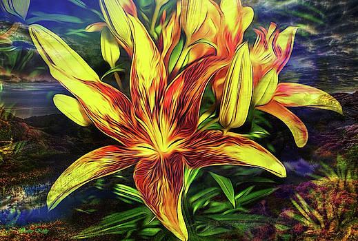 Kathy Kelly - Fantasy Yellow Lilies