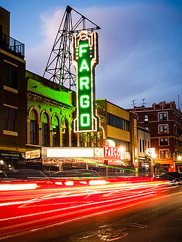 Paul Velgos - Fargo Theatre and Downtown Buidlings at Night