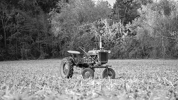 Farm All in  corn field Blsck and White by Seth Solesbee