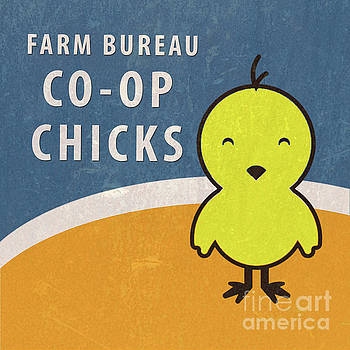 Farm Bureau Co-op Chicks retro vintage farm sign by Edward Fielding