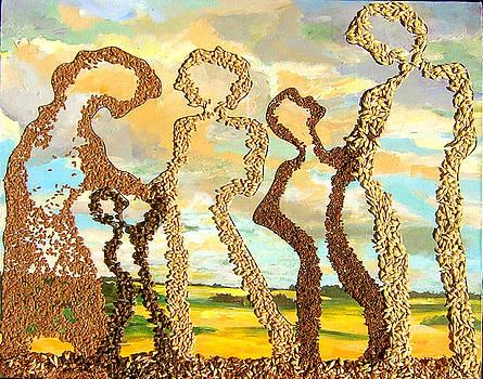 Farm Family by Naomi Gerrard
