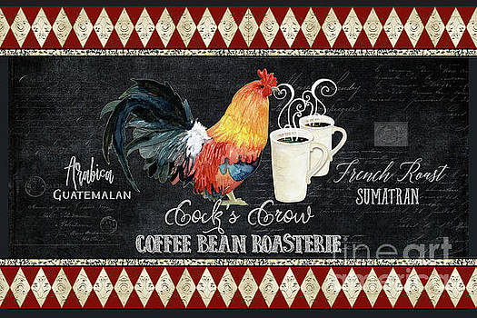 Farm Fresh Rooster 6 - Coffee Bean Roasterie French Roast by Audrey Jeanne Roberts
