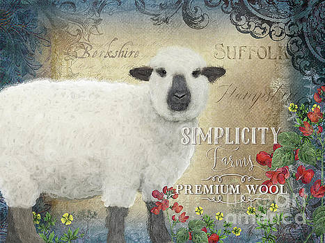Farm Fresh Sheep Lamb Wool Farmhouse Chic  by Audrey Jeanne Roberts