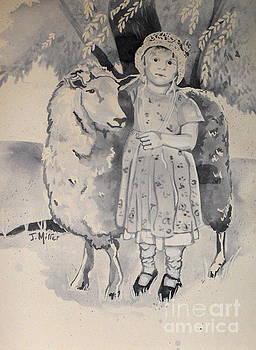 Farm Girl in Blue by Jackie Little Miller