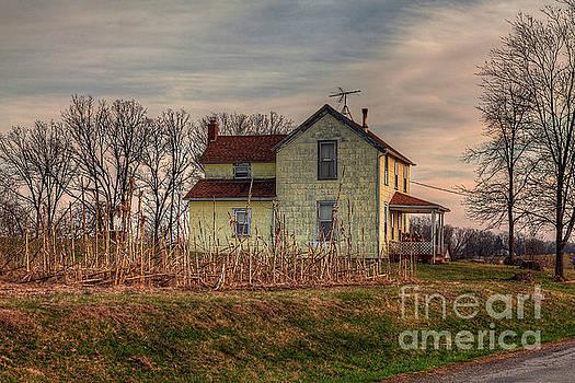 Larry Braun - Farm House at Sunset