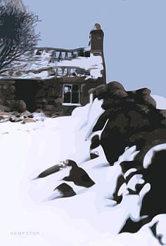 Farm near Nebo in the winter by Alwyn Dempster Jones