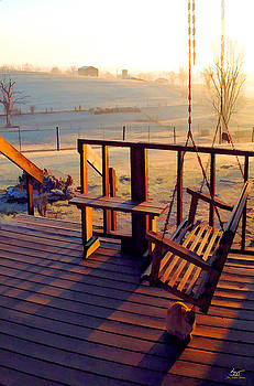 Sam Davis Johnson - Farm Porch Morning