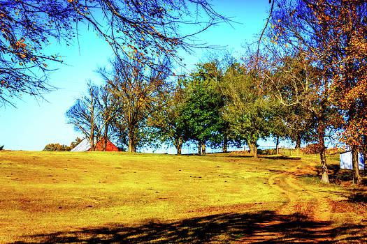 Farm Road - Fall Landscape by Barry Jones