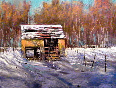 Farm Shed -Winter by Tom Christopher