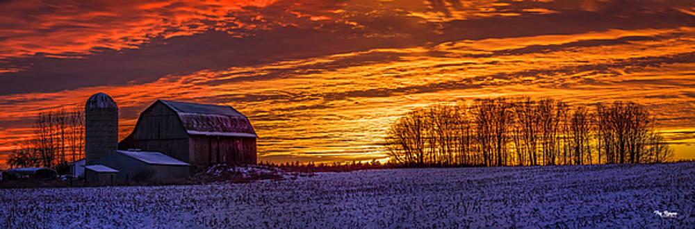 Farm Sky on Fire by Peg Runyan