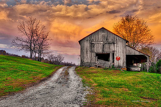 Farm Sunrise in Ohio County Kentucky by Wendell Thompson