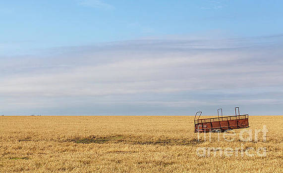 Farm trailer in the Middle of Field by PorqueNo Studios