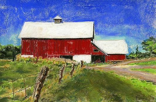 Farmer Miller's Barns by Ferne McGinnis