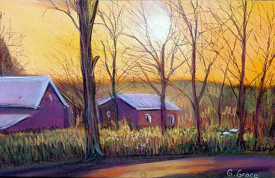 Farmhouse Autumn by George Grace