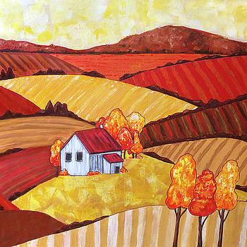 Farmhouse Fields #2 by Jennifer Allison