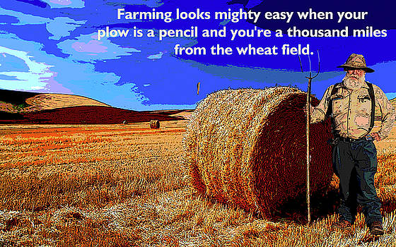 Farming Wheat by Charles Shoup