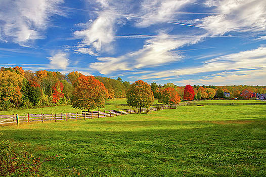 Farmland in Sherborn Massachusetts by Juergen Roth