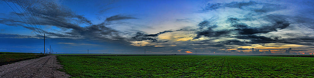 Farmland Panorama by Roberto Aloi