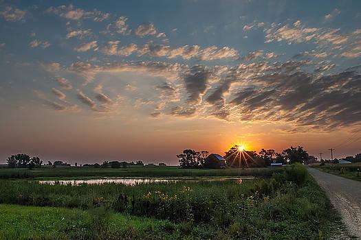 Farmstead Sunrise by Dan Traun