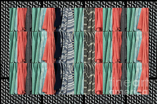 Fashion Fabric Textures colorful pattern on pillows tshirts curtains towels gifts christmas holidays by Navin Joshi