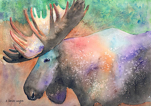 Fashionista Moose by Arline Wagner