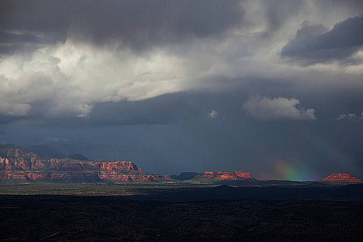 Fat Ground Rainbow, Red Rocks Sedona by Ron Chilston