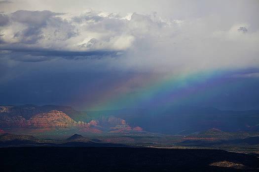 Fat Rainbow, Sedona Az by Ron Chilston