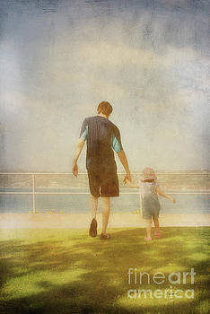 Father and Daughter holding hands by Claudia Ellis by Claudia Ellis