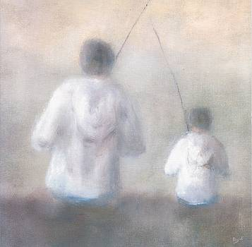 Father and Son Fishing by Alan Daysh