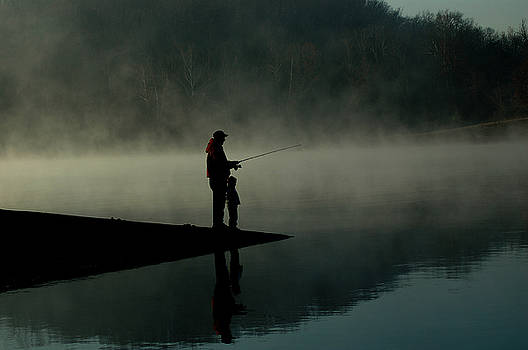 Father and Son Fishing by Shawn Wood