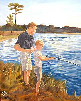 Father and son by Jana Goode