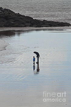 Father and Son on Beach by Andy Thompson