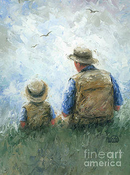 Father and Son Talk by Vickie Wade