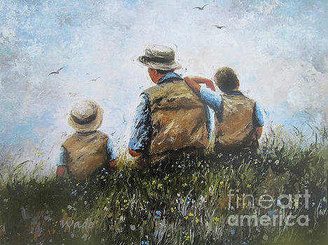 Father and Two Sons by Vickie Wade