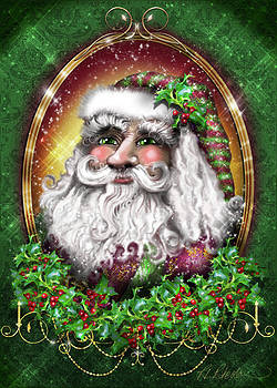 Father Christmas Portrait by Roz Paterson