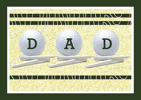 Father's Day Golf Card by Rosalie Scanlon