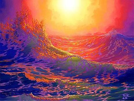 Fathomless Billowing Waves Of Love From The Worlds Of Nature And Conservation Series by Loren Adams