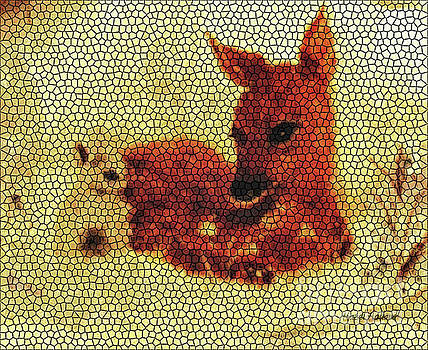 Hazel Holland - Stained Glass Fawn and Bunny