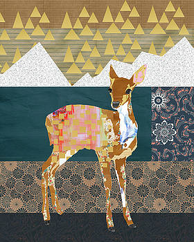 Fawn Collage by Claudia Schoen