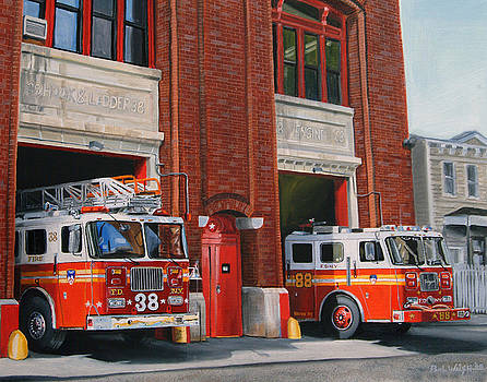 FDNY Engine 88 and Ladder 38 by Paul Walsh