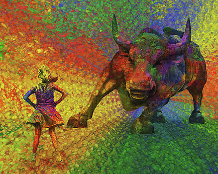 Fearless Girl And The Bull by Jack Zulli