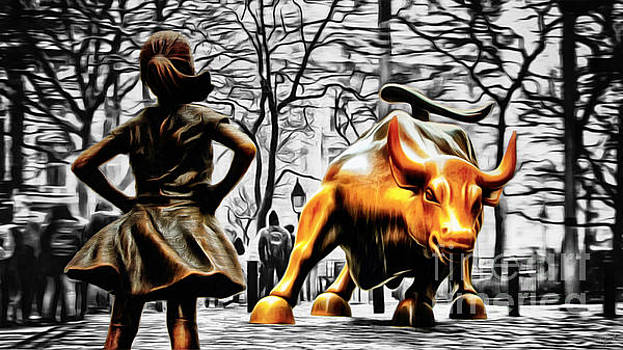 Fearless Girl and Wall Street Bull Statues 15 by Nishanth Gopinathan